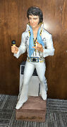 Vintage Elvis Bourbon Bottle With Music Box And Certificate Of Authenticity