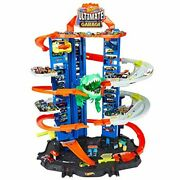 Multi Level Toy Car Garage 100 Plus Hot Wheels Cars Kids Play With T-rex