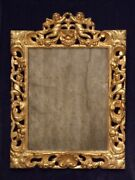 Very Early English Carved Gilt Wall Mirror C1680. Charles Ii