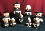 Vintage Collection Of Goebel Friar Tuck Monks 9 Pieces In All
