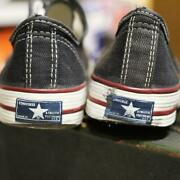Converse First Break Boys Size 4 Sneakers Black Usa Made Genuine 80s Vintage F/s