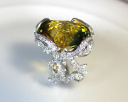 Natural Green Amethyst 925 Sterling Silver New Style Ring Handmade Women + Gift