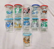 Looney Tunes Jelly Jars Welch's Tom And Jerry Lot Of 11 Rare Pepe Le Pew Glass