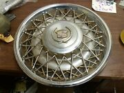 Single 1 Wheel Cover Hubcap 1976 -1979 And 1985 Rwd Cadillac Wire 3516478 15