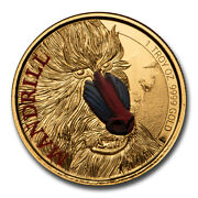 2020 Cameroon 1 Oz Gold Mandrill Proof Colorized - Sku220174