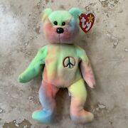 Peace The Bear Beanie Baby 1996 Mint Condition