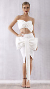 New Designer Couture Large Bow Dress Co Ord Skirt And Top Set 2 Piece Set Modern