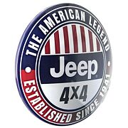 Jeep 4x4 Dome Sign 15 Round Metal Sign Game Room Decor Man Cave Bar Garage