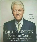 Bill Clinton Audiobook Back To Work 5 Cd Read By The Author New And Sealed