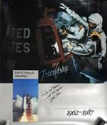 John Glenn Signed Poster With Certificate Of Authenticity
