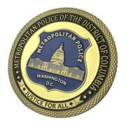 U.s. Metropolitan Police Of The District Of Columbia Mpdc | Gold Plated Coin