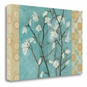 26 X 39 Patterned Magnolia Branch Giclee On Gallery Wrap Canvas