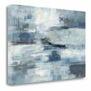 24 X 34 Clear Water Indigo And Gray Giclee On Gallery Wrap Canvas