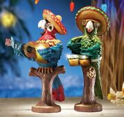 Lighted Mariachi Macaw Summer Party Decoration Figurine.