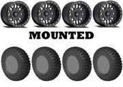 Kit 4 Sti Chicane Rx Tires 30x10-14 On Method 406 Beadlock Matte Black Pol