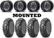 Kit 4 Maxxis Bighorn Radial 26x9-14/26x11-14 On 406 Beadlock Matte Black 1kxp