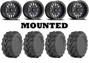 Kit 4 Itp Mud Lite Xtr 27x9-14/27x11-14 On Method 406 Beadlock Matte Black Ter
