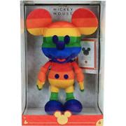 Disney Year Of The Mouse Collector Plush - Rainbow Mickey Mouse [age 3+ Toy] New