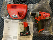 Milwaukee 2504-20 M12 Fuel Brushless 1/2 In. Hammer Drill With Chargers 4.0