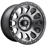 Fuel Vector D601 20x10 -18 Anthracite W/ Black Ring Wheel 5x127 5x5 Qty 5