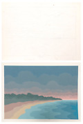 Roy Ahlgren Lands End Pencil On Paper And Screenprint Both Signed In Pencil