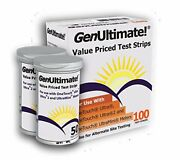 100 Genultimate Test Strips For Use With Onetouch Ultra Meters And Ultramini
