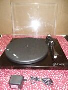 New Crosley C6a-bk Pro Series 2 Speed Turntable Record Player Black With Cover