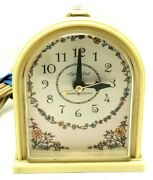 General Electric Clock Lighted Dial Tan Brown Vintage Usa 4 1/2 X 3 3/4 G10