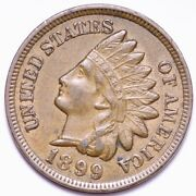 1899 Indian Head Cent Penny Choice Unc Free Shipping E587 Jcp