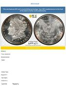 1880s Morgan Silver Dollar Pcgs Ms67+ 0470 Gold Shield Extremely Beautiful Coin