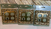 3 Betsy Field Antique Brass Double Light Switch Wall Plate Design New