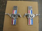 Nos Oem Ford 1967 1968 Mustang 289ci Fender Ornaments Emblems Pony Ponies