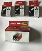 Canon Bci 3e Ink Lot Of 3 Bci 3ebk Black And 1 Bci 3e Combo Pack New Sealed