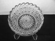 American Brilliant Cut Glass Rare 1-1 Rated Russian And Pillar Bowl Stunning
