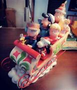 Jim Shore Peanuts Gang Sleigh Ride Christmas Carving Figurine Extremely Rare