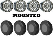 Kit 4 Sti Chicane Rx Tires 33x10-15 On Sedona Sano Beadlock Machined Wheels Ter