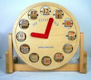Pottery Barn Kids My First Clock Wooden Toy Education Time