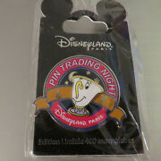 Disney Dlrp Pin Trading Night Chip Beauty And The Beast Le Pin