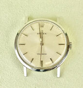 Rolex Vintage Precision 33mm Menand039s Stainless Steel Sweep Second Dress Watch