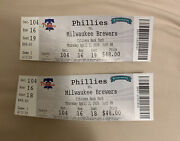 Philadelphia Phillies Opening Day 2020 April 2, 2020 Tickets Pair 2 Canceled