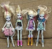 Monster High 4 Doll Lot Abbey Bominable Mattel Clothes Shoes Accessories X6