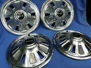 4 Pontiac Pmd Hubcaps 14 1967 1968 Tempest Not Perfect Good For Daily Driver