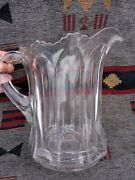 Antique Heisey Glass Pitcher Large - 9 Tall