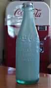 C1900andrsquos Rare Coca Cola Straight Sided Green Bottle Crown Top Litchfield Ill 2