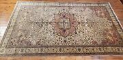 Masterpiece 1930-1940s Antique Wool Pile Mutes Dye Armenian Hereke Rug 6and0393andtimes10and0391