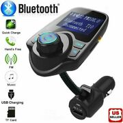 Bluetooth Wireless Car Fm Transmitter Aux Stereo Receiver Adapter 2 Usb Charger