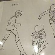 Amuro Ray Cel Picture Character Setting Collection Rare Collectible F/s From Jpn