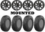Kit 4 Nitto Trail Grappler Sxs Tires 32x9.5-15 On Frontline 308 Matte Gray Can