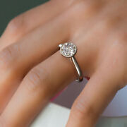 1.00 Ct Solitaire Certified Lab Grown Diamond Wedding Ring 950 Platinum Size 7 8
