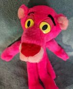 """Vintage 90s Pink Panther Plush Stuffed Animal Toy Ace 1994 14"""" Long Minor Flaws"""